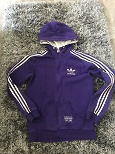 Adidas Chile 62 Zip Up Hooded Top Size S