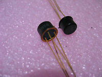 Qty 2 GE 3N58 Transistor Black TO-18 Case w. Gold Leads - NOS