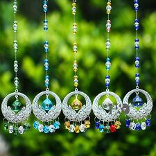 Set 5 Colors Crystal Prisms Suncatcher Hanging Ornament Pendant Wedding Decor