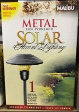 LAST SET!! (4) Malibu Solar LED Outdoor Path Yard Landscape Metal Garden Lights