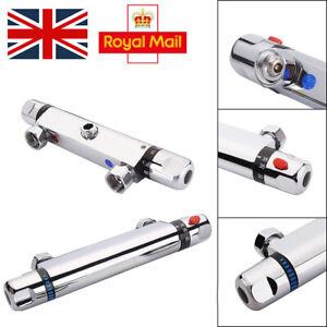 Bathroom Bar Mixer Shower Valve Bar Thermostatic Brass Chrome Dual Control UK