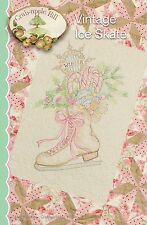 VINTAGE ICE SKATES EMBROIDERY PATTERN From Crabapple Hill Studio NEW