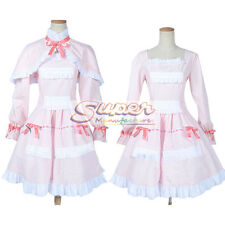 Another Mei Misaki LO Pink Dress Cloak Uniform COS Clothing Cosplay Costume