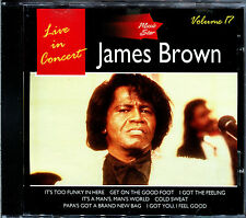 JAMES BROWN LIVE IN CONCERT - MUSIC STAR VOLUME 17 - CD ALBUM [411]