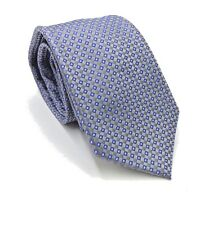 $95 CLUB ROOM Men`s GRAY BLUE WHITE CHECK DOT NECK TIE CASUAL NECKTIE 59x3.25