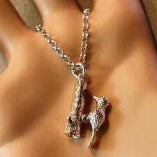 Nueva Cadena Colgante de plata esterlina Woodpecker