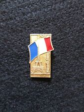 USSR Pin Badge Historical Monuments EIFFEL TOWER Vintage Brooch French Flag.