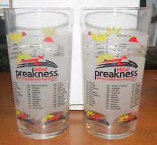 2 Frosted Glass 142nd Preakness NEW!