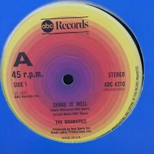 """DRAMATICS SHAKE IT WELL / SPACED OUT OVER YOU CLASSIC 1978 DISCO SOUL 12"""" VINYL"""