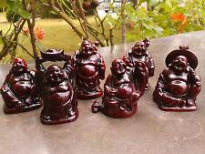 6 x Buddha - Figuren Figur Happy Buddha Glücksbuddha Feng Shui Glücksbuddhas NEU