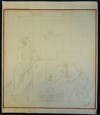 #4 POMPEIJ - ROMA - PUTTO - CASA DE CAPITELLI - FRESKO - 1877 NEAPEL - ENGEL
