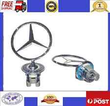 Emblem Decal Logo Spring fit MERCEDES BENZ Bonnet Chrome W202 W203 W204 W210 ETC