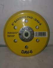 """6"""" Hook and Loop Backing Pad 6 Hole 5/16th"""" Relacement DA BACKING PAD"""