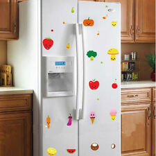 Kitchen Wall Sticker Cute Fruit Veg Removable Fridge Cupboard Wall Sticker Decor
