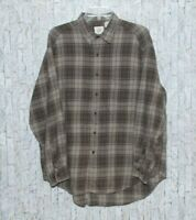 Gap Men's Brown Plaid Collared Long Sleeve Flannel Shirt Size L Button Up