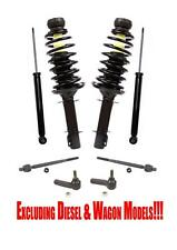 BEETLE 98-10 GOLF 99-06 JETTA 99-05 Front Complete Struts Rear Shocks & Tie Rods