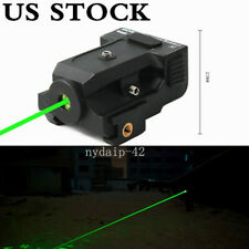 Us Green Dot Laser Sight Micro Usb Rechargeable For 20mm Rail Rifle Pistol Hunt