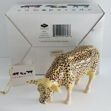Cow Parade LEOPARD 9169 2001 RETIRED NIB Cows Animal Print New York