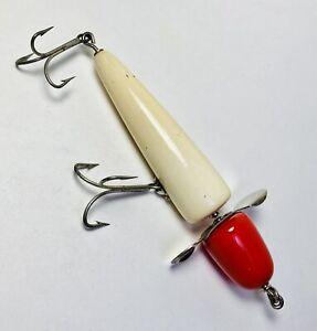 Vintage PFLUEGER GLOBE Rotary Head Wooden Fishing Lure Muskie Size