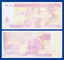 De La Rue Giori Varinota Beethoven Color Trial #6 - Specimen Test Note Unc
