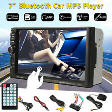 Car In Dash Bluetooth 7'' HD 2 DIN Head Unit GPS  MP3 MP5 Player Stereo FM Radio
