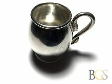 """Vintage SOLID .900 90% Silver Small Drinking Cup Glass - Snake! Signed """"TAN"""""""