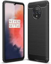 For OnePlus 7T Case Carbon Fibre Gel Cover Ultra Slim Shockproof
