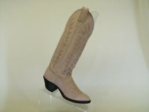 Justin Pink Leather Cowboy Western Boots Womens Size 3 B