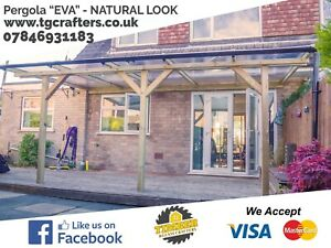 HIGH QUALITY timber pergola bespoke lean-to roof SUPPLY & INSTALLATION | QUOTE