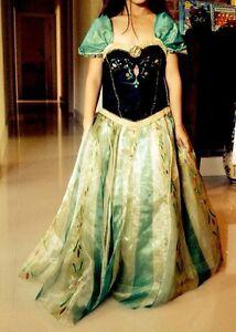 Disney Store Authentic Frozen Deluxe Anna Coronation Dress Costume NWT Size 7/8
