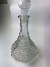 New listing Clear Pressed Glass Wine Decanter