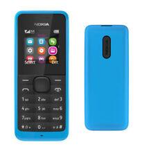 Teléfonos móviles libres azul con anuncio de conjunto