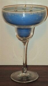 VERY RARE VTG BATH BODY WORKS TEMPTATIONS MARGARITA GLASS CANDLE ISLAND COCONUT