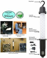 LED WORK LIGHT 12V RECHARGEABLE  26 X Super Bright LEDs. Rech from mains or car