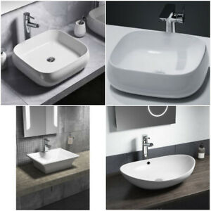 Modern Vessel Counter Top Basin Countertop Oval Square Bathrooom Sinks Choice of