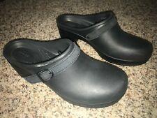 Crocs Dual Comfort Sarah women's black slip-on mule clogs with heel size 9