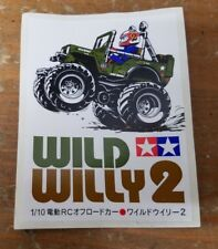 "Tamiya Wild Willy 2 RC Car Truck Decal Promotional Sticker 1999 3.5"" x 2.5"""