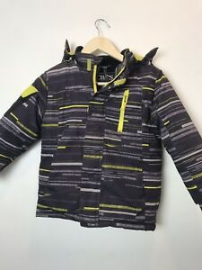 Chaps boys coats Sz 5/6 blue and yellow 2 zippers and hook and loop fastener F13