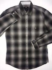 e4482137e Boss Hugo Boss Lonel Cotton Mens Black Slim Fit Dress Shirt Size M