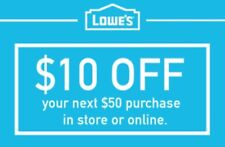 3x Three Lowes $10 Off $50 3COUPON3-Fast Delivery-InStore/Online