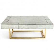 Delphine Coffee Cocktail Table Adler Antiqued Mirror Brass NeimanMarcus  Horchow