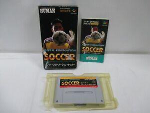 SNES -- SUPER FORMATION SOCCER -- Box. Super Famicom, JAPAN Game. 12020
