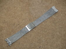 VINTAGE 18mm STELUX MESH STAINLESS STEEL 2 PIECE WATCH STRAP BRACELET