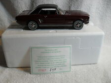 Danbury Mint 1966 Ford Mustang Hardtop Coupe 1:24 Scale Die Cast Metal Rare Car