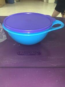 Tupperware 6 Cup Blue Purple Thatsa Storage Mixing Bowl 30560 New