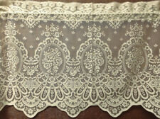 "Ivory Lace Window Valance Cameo Rose 60"" x 24"" Kitchen Bedroom Livingroom"