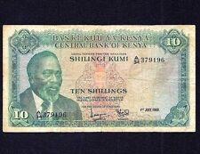 KENYA 10 shillings 1969  P-7a
