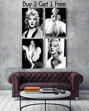 """SUPERB MARILYN MONROE CANVAS FRAMED PICTURES MOVIE FILM WALL ART 30""""X20"""""""