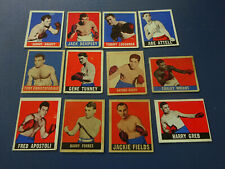 12 1948 Leaf Boxing Cards, Vg Condition, Dempsey, Tunney,
