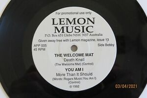 You Am I, Welcome Mat, Coal Porters, Poppin' Mommas - 1992 Lemon promo EP 33rpm